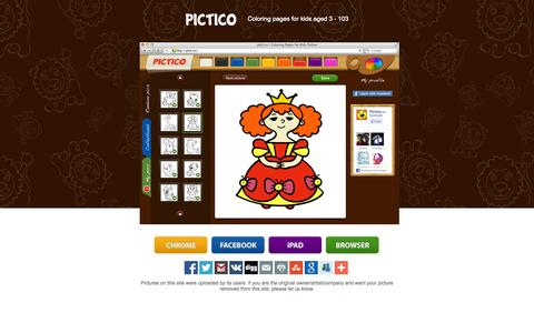 Screenshot of Home Page picti.co - picti.co | Coloring pages for kids aged 3 - 103 - captured Oct. 3, 2014
