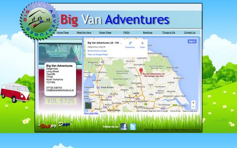 Screenshot of Contact Page bigvanadventures.co.uk - Big Van Adventures Contact Us - captured Oct. 5, 2014