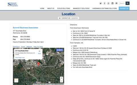Screenshot of Locations Page summitbiz.net - Location - captured Dec. 2, 2016