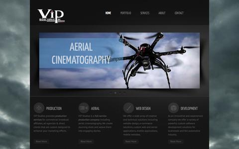 Screenshot of Home Page vipstudios.tv - Seattle full service video production, aerial cinematography, website design, advertising | VIP Media Services - captured Sept. 22, 2015