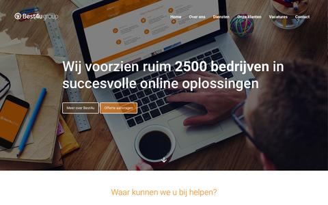 Screenshot of Home Page best4ugroup.be - Webdesign Internet Marketing Bureau - Best4u Group B.V. - captured June 21, 2015
