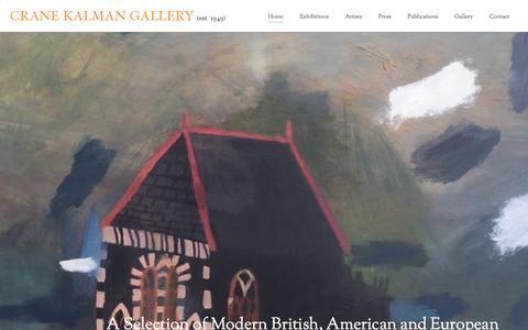 Screenshot of Home Page cranekalman.com - Crane Kalman Gallery - Modern British, 20th Century European and American paintings and sculpture - captured March 4, 2016