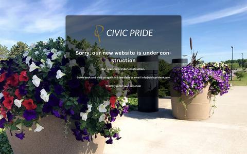 Screenshot of Home Page civicprideuk.com - Under Construction - captured Sept. 28, 2018
