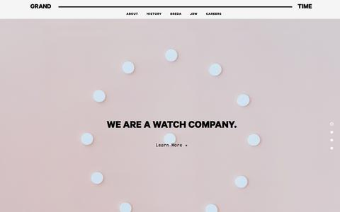 Screenshot of Home Page grandtime.com - Grand Time   Fashion & Lifestyle Watches - captured Aug. 17, 2019