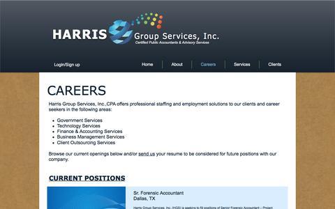 Screenshot of Jobs Page harrisgs.com - Careers - captured Oct. 27, 2016