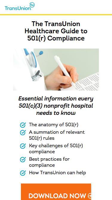 TransUnion Healthcare 501(r) Resources
