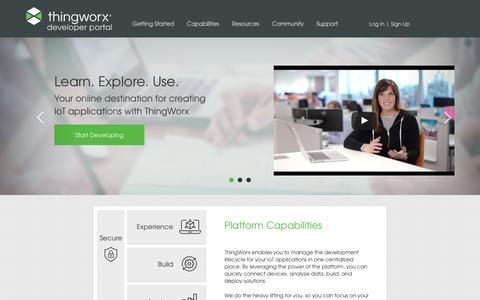Developer Portal | Developer Portal : ThingWorx