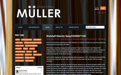 Screenshot of Blog mullerchokes.com - Muller Chokes — Blog - captured Oct. 9, 2014