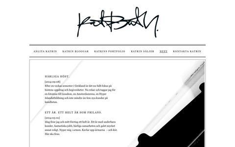 Screenshot of Press Page katrinb.se - Nytt |  Katrin B - captured Sept. 30, 2014