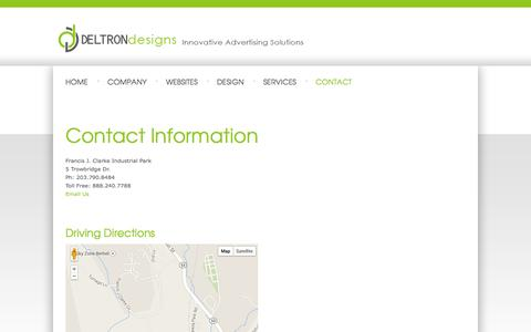 Screenshot of Contact Page Maps & Directions Page deltrondesigns.com - Contact Information - Deltron Designs, Inc. - captured Oct. 23, 2014
