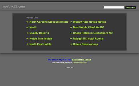 Screenshot of Home Page north-11.com - North-11.com - captured Aug. 17, 2015