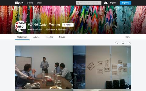 Screenshot of Flickr Page flickr.com - World Auto Forum   Flickr - Photo Sharing! - captured Sept. 30, 2015