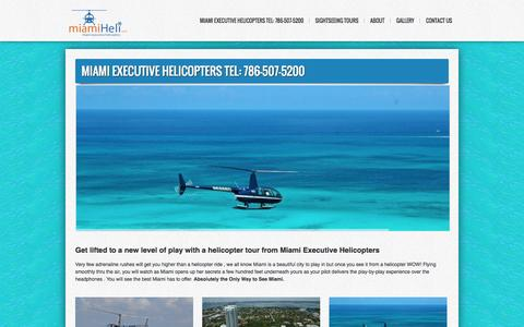 Screenshot of Home Page miamiheli.com - Miami Helicopters Tours | Most Popular Helicopter Tours in Miami - captured Oct. 2, 2014