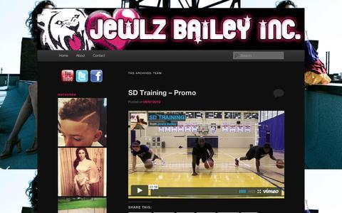 Screenshot of Team Page wordpress.com - team | Jewlz Bailey Inc. - captured Sept. 12, 2014