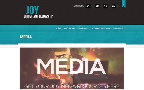 Screenshot of Press Page joychristianfellowship.com - MEDIA  |  Joy | Where community happens - captured Jan. 9, 2016