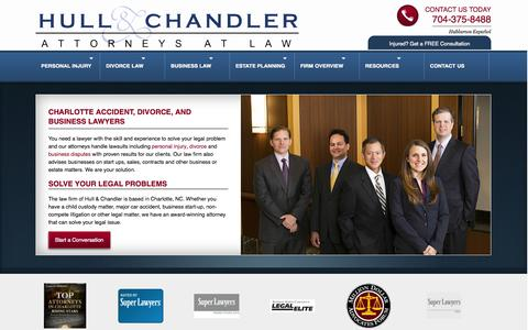 Screenshot of Home Page Site Map Page hullandchandler.com - Hull & Chandler, P.A. | Charlotte Accident, Divorce, Business, and Estate Planning Lawyers - captured Oct. 3, 2014
