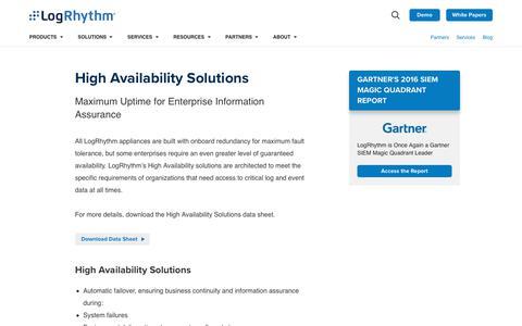 High Availability Solutions | LogRhythm