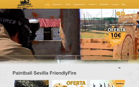 Screenshot of Home Page friendlyfire.es - PAINTBALL SEVILLA. FRIENDLYFIRE - captured Feb. 10, 2016