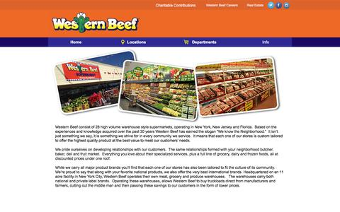 Screenshot of About Page westernbeef.com - Western Beef - About us - captured Jan. 30, 2016
