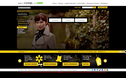 Screenshot of Team Page george.jobs - Leadership - captured Oct. 2, 2014