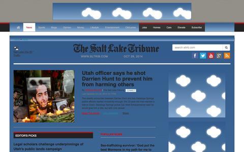 Screenshot of Press Page sltrib.com - Utah news, Salt Lake City news   The Salt Lake Tribune News - captured Oct. 29, 2014