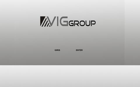Screenshot of Home Page viggroup.com.tr - .:: V i g ; G r o u p ::. - captured Sept. 30, 2014