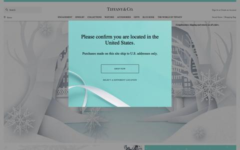 Screenshot of Home Page tiffany.com - Home | Tiffany & Co. - captured Nov. 27, 2015