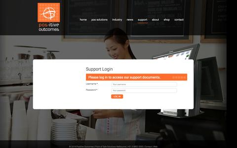Screenshot of Support Page positive-outcomes.com.au - Support -  Positive Outcomes - captured Sept. 30, 2014