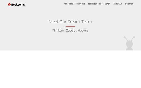 Screenshot of Team Page geekyants.com - GeekyAnts - Team - captured Nov. 18, 2016
