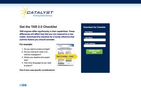 Screenshot of Landing Page catalystsecure.com captured Oct. 27, 2014