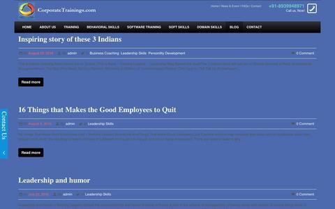 Screenshot of Blog icorporatetrainings.com - Official Blog of iCorporate Trainings, Chennai | iCorporate Training Chennai - captured Aug. 30, 2016