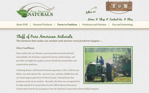Screenshot of Team Page pureamericannaturals.com - USA Angora Goat Farmers | Mohair Yarn and Merino Wool Farm - captured Sept. 30, 2018