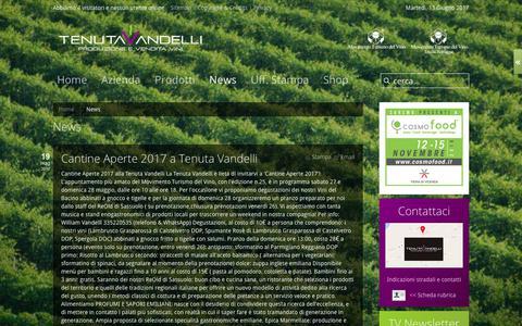 Screenshot of Press Page tenutavandelli.it - News - captured June 13, 2017
