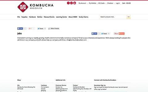 Screenshot of Jobs Page kombuchabrooklyn.com - Jobs - captured Oct. 1, 2014