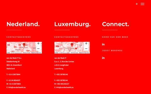 """Screenshot of Contact Page vanderbeekit.nl - Let's talk! - Neem direct contact op met """"van der Beek IT"""" - captured Sept. 20, 2018"""
