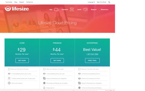 Lifesize Cloud Pricing & Subscription Information