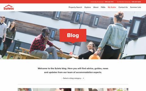 Screenshot of Blog sulets.com - Sulets Blog | Better Student Living with Sulets - captured July 26, 2018