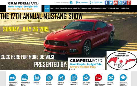 Screenshot of Home Page campbellford.com - Campbell Ford | Campbell Ford Ford Dealer Ontario - captured July 18, 2015