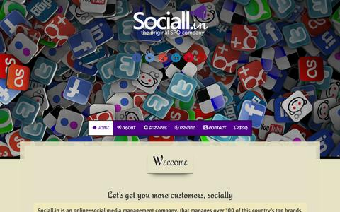 Screenshot of Home Page sociall.in - Social Media Marketing Social Media Marketing Company India Sociall.in - captured Aug. 16, 2015