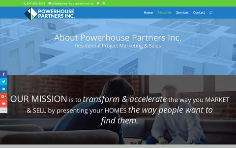 Screenshot of About Page powerhousepartners.ca - About Us | Powerhouse Partners - captured Nov. 11, 2018