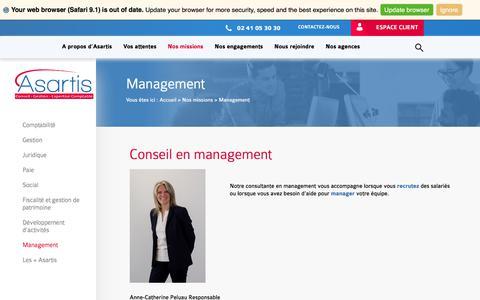 Screenshot of Team Page asartis.com - Asartis : conseil en management - captured Oct. 7, 2017