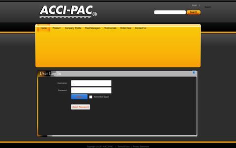 Screenshot of Login Page acci-pac.co.uk - User Log In - captured Nov. 5, 2014