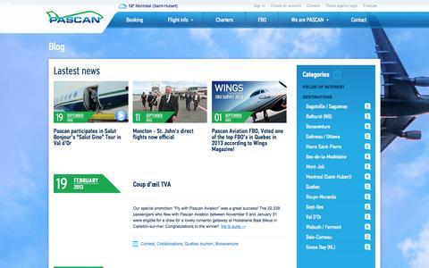 Screenshot of Blog pascan.com - Everything about PASCAN | Blog - captured Oct. 1, 2014