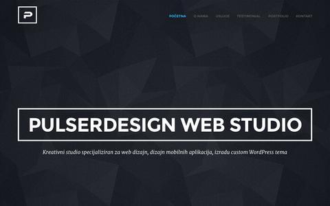 Screenshot of Home Page pulserdesign.com - Pulserdesign Web Studio-Web dizajnPulserdesign Web Studio - captured Nov. 19, 2015