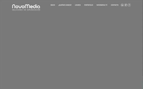 Screenshot of Home Page novomedia.mx - Novomedia   Soluciones en Comunicación - captured Aug. 17, 2015