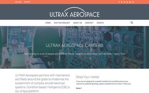 Screenshot of Jobs Page ultraxinc.com - CAREERS-ULTRAX Aerospace Career Opportunities - captured Sept. 25, 2018