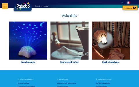 Screenshot of Press Page pabobo.com - Actualités Pabobo - captured Nov. 4, 2018