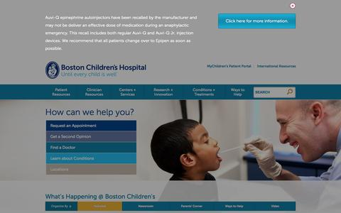 Boston Children's Hospital | Ranked Best Children's Hospital