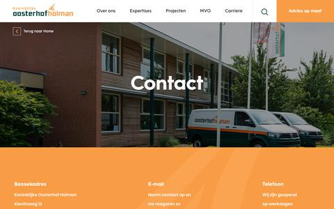 Screenshot of Contact Page oosterhof-holman.nl - Contact - Oosterhof Holman - captured Sept. 20, 2018