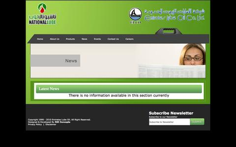 Screenshot of Press Page elco-uae.com - Welcome to Emirates Lube Oil Company - captured Oct. 2, 2014